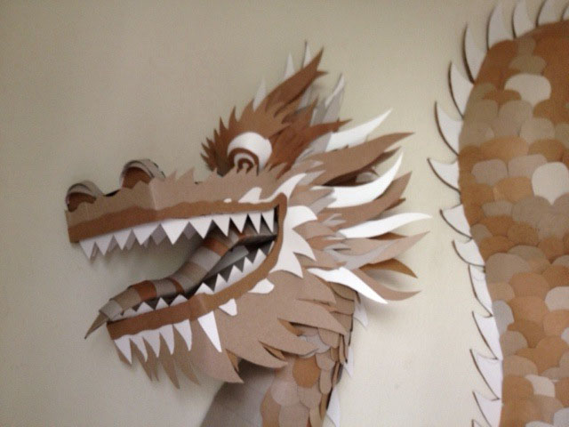 Cardboard for Cardboard dragon template